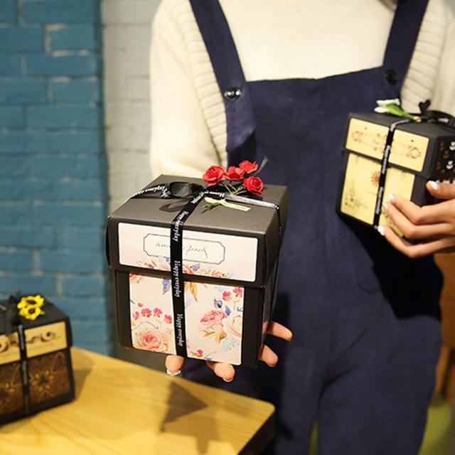Surprise Explosion cadeau boîte bricolage à la main Scrapbook Album Photo mariage anniversaire saint valentin cadeau créatif orgue cadeau boîte