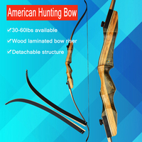 1pcs Accessories 62inch Recurve Bow 30 60lbs Wood Bow For Profession Novice Outdoor Hunting Shooting Motion Bow And Arrow