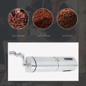 Coffee Grinder Portable Manual Coffee Mill Grinder Stainless Steel Hand Crank Coffe Mill Coffee Bean Grinder manual coffee grinder wood metal hand mill spice mill wood color