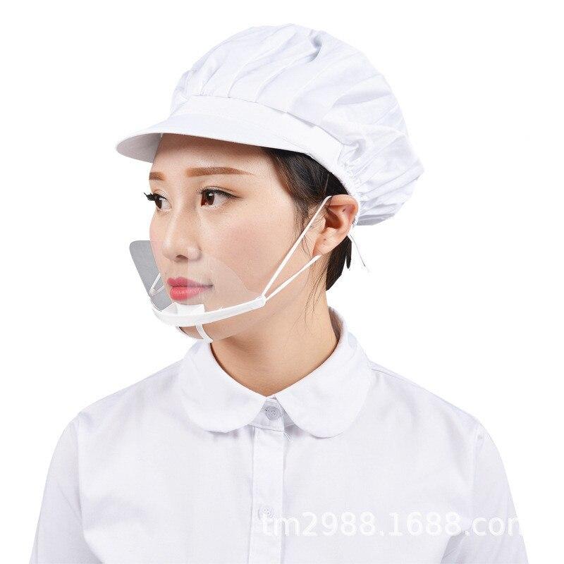KitchenAce 10pcs PP Restaurant Waiter Mask Anti Fog Saliva For Hotel Restaurant Chef Kitchen Cooking Mask Catering Hygiene Mask