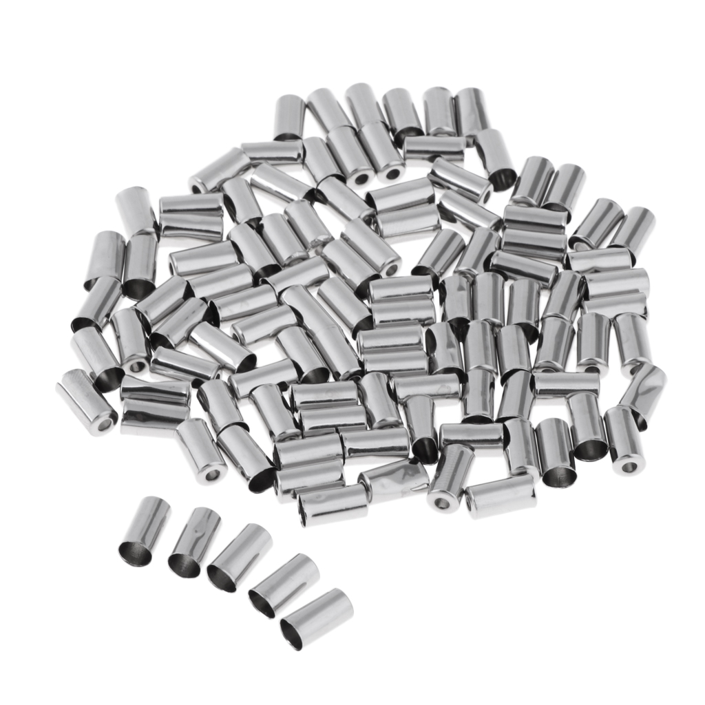 100Pcs Bike Bicycle Cycling Housing Brake Cable End Caps Lined Ferrules Crimps
