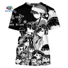 Мужская футболка sonspee с 3d принтом кавайная аниме девочка
