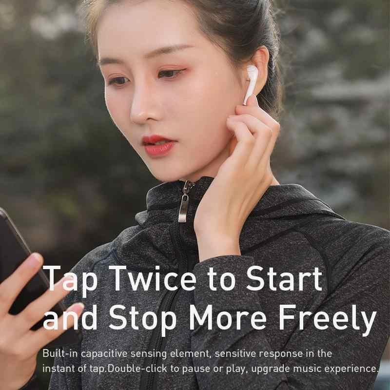 Baseus W04 TWS ワイヤレス Bluetooth イヤホン 5.0 ステレオヘッドフォン真ワイヤレスイヤフォンハンズフリー耳のヘッドセットで電話 Xiaomi
