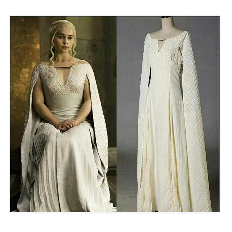 Game Of Thrones Daenerys Targaryen Cosplay Costume Women Female Queen Mother Dragons Dress Jumpsuits Skirts Party Halloween Suit