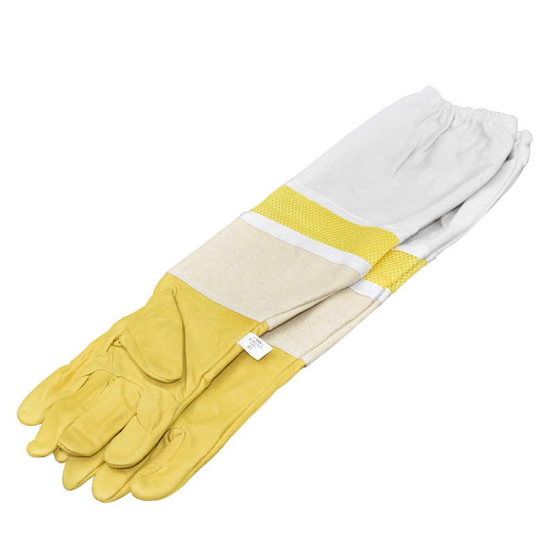 Beekeeping Gloves Protective Sleeves Ventilated Professional Sheepskin And Canvas Bee For Apiculture  Beekeeping Gloves