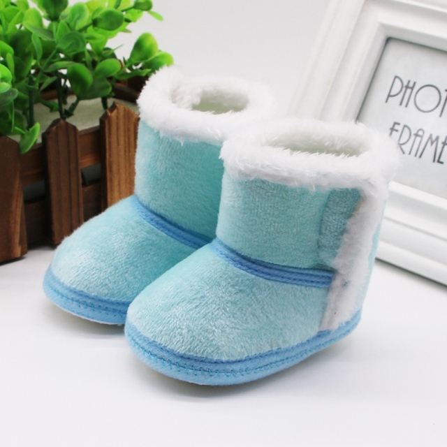 DOGEEK Winter Baby Boys Girls Shoes First Walker Winter Infants Warm Shoes Faux Fur Girls Baby Booties Leather Boy Baby Boots 2