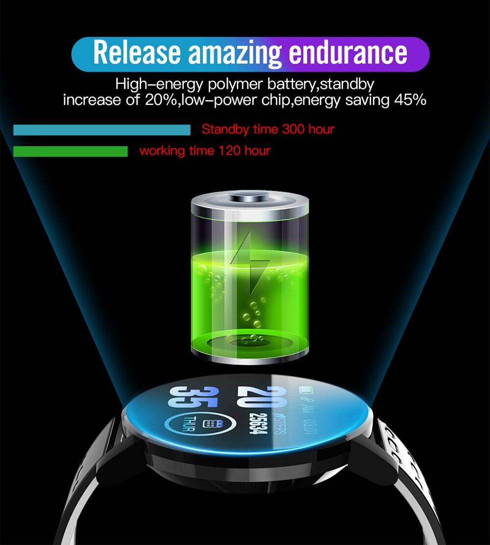 H79bf38b62ade445497adbc9ab88d2fc1W Fitness Bracelet Blood Pressure Measurement Smart Band Waterproof