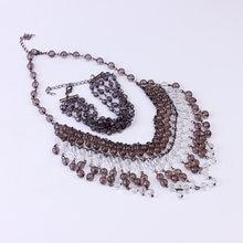 Женский комплект украшений из ожерелья и браслета набор акрилового