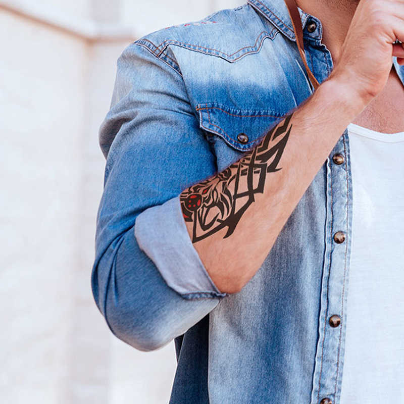 עמיד למים זמני קעקוע מדבקת פרח עלה מצלמה זרוע יד מזויף מדבקות קעקוע פלאש אמנות Tatto קעקועים לילדה נשים