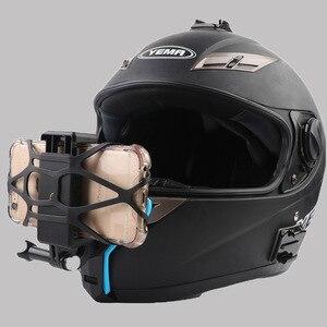 Image 5 - Кронштейн для мотоциклетного шлема адаптер с держателем для телефона для камеры GOPRO iPhone Samsung Huawei аксессуары для телефона
