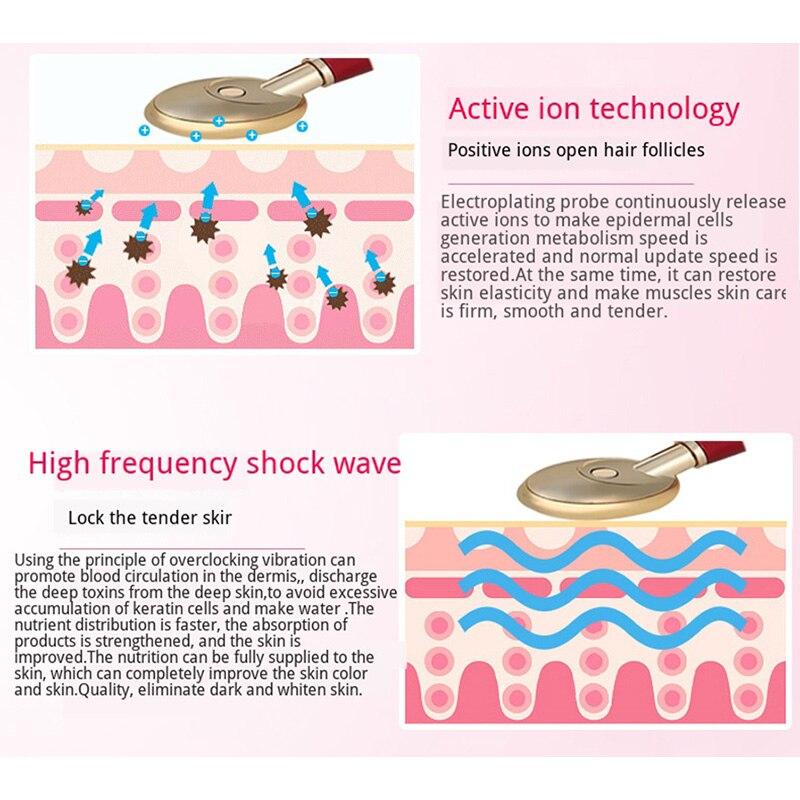 Vibraiton aquecimento importação massageador para rosto remover