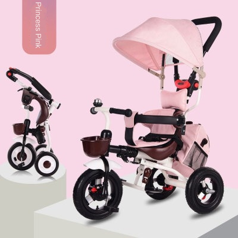 High Grade Children Tricycle Bicycle Baby Bike Lightweight Folding Infants Kids Cart 1-3 Years Old 3 wheel bicycle