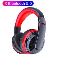 Auriculares inalámbricos MX666, cascos estéreo de graves montados en la cabeza, bluetooth, soporte para microSD, tarjeta TF, micrófono para videojuegos