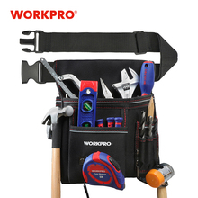 WORKPRO Multi-functional Electrician Tools Bag Waist Pouch with Adjustable Belt Storage Carrying Pouch