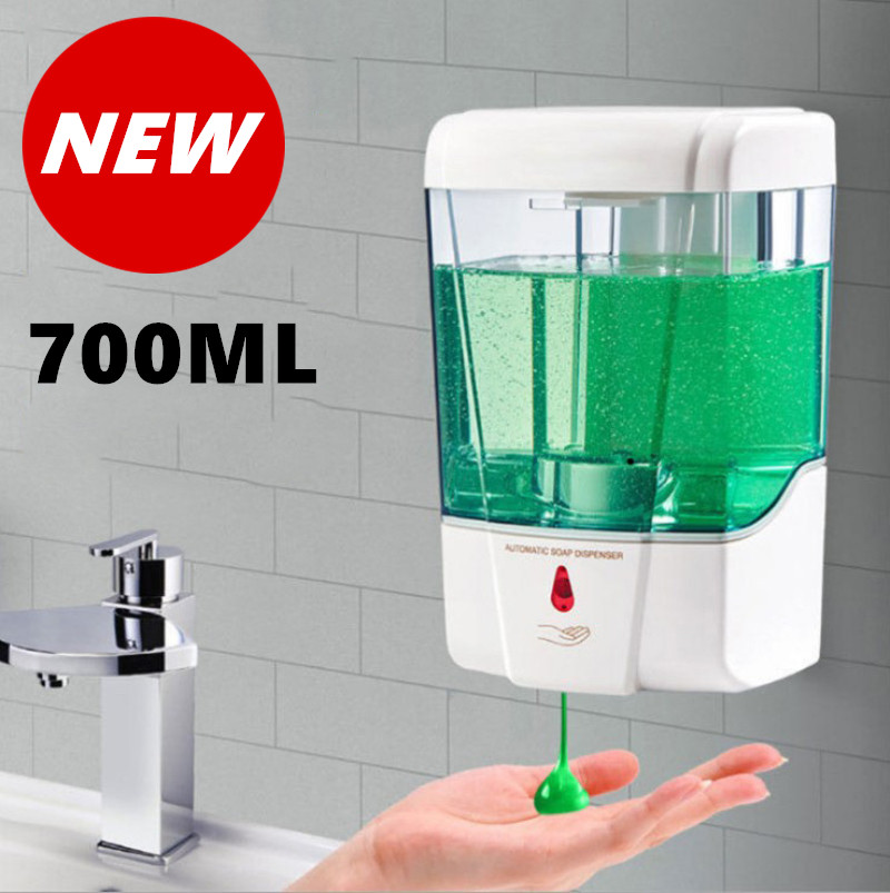 2020 Новый 300/700 мл настенный автоматический Сенсор дозатор для жидкого мыла хэндс-фри шайба бесконтактная дезинфицирующее кухня ванные комна...