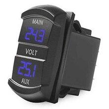 Dual Voltmeter Voltage Battery Monitor LED Display Indicator 12V-24V Car Boat 1014 Blue