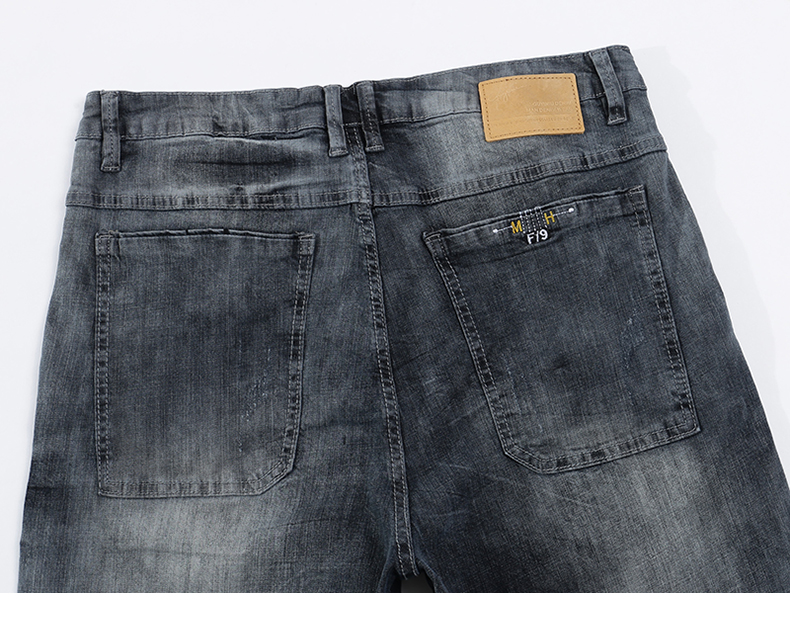 KSTUN mens jeans slim fit retro gray denim pants man 2020 summer thin grey vintage casual pants jeans male long trousers cowboys 14
