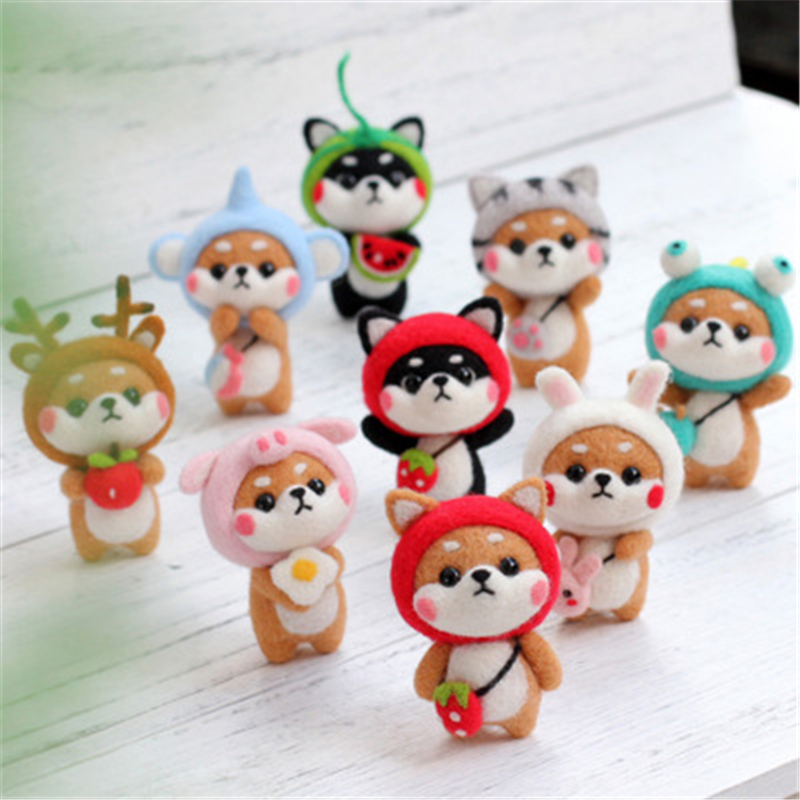 MIUSIE Creative Lovely Doll Wool Felt Craft DIY Non Finished Poked Set Handcraft Kit for Needle Material Bag Pack Hot Sale(China)