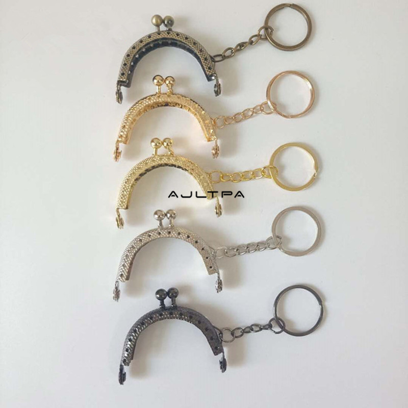120Pcs 5cm Retro Coin Purse Metal Purse Frame Handmade DIY Mouth Gold Package Kiss Clasp Lock For Bag Accessorie