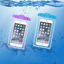 Swimming Waterproof Phone Bag with Luminous Underwater Pouch Case for Iphone 6 6s 7 Universal All Models 3.5 Inch -6