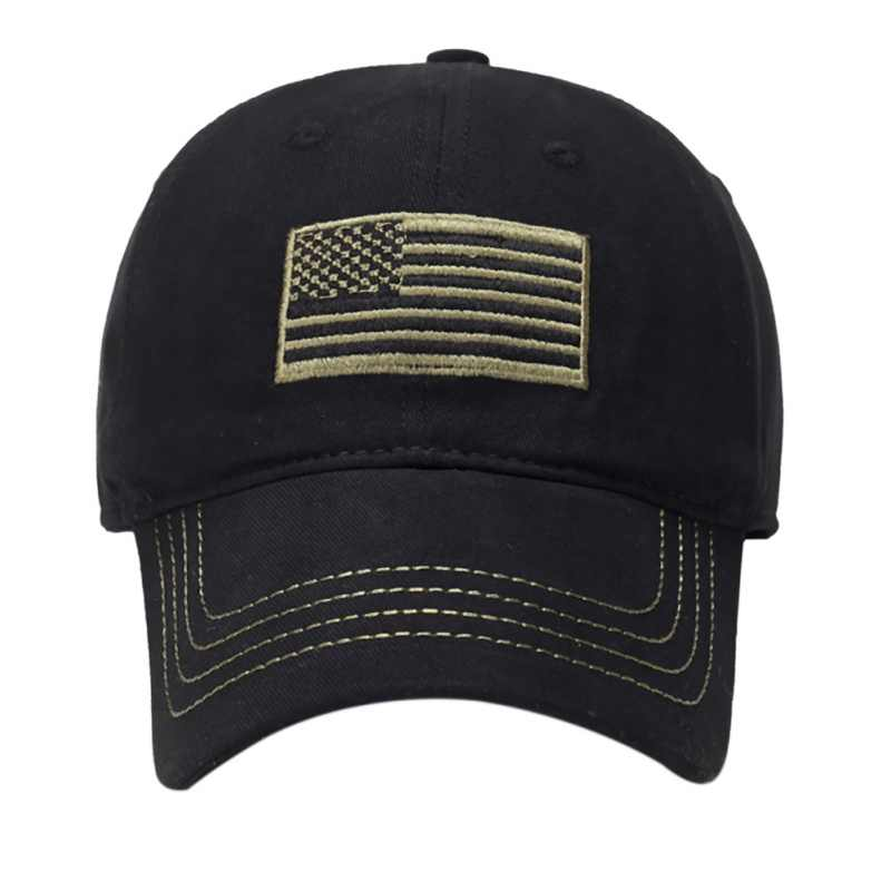 חיצוני ספורט רכיבה על אופניים ריצת כובעי דגל רקמת כובע עמיד דק כחול קו דגל נמוך פרופיל טקטי כובעי רקום כובע