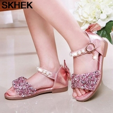 цена на 2020 CHILDREN'S Sandals New Style Korean-style Man-made Diamond Soft-Sole Peep-Toe High-heeled Sandals Fashion GIRL'S Sandals