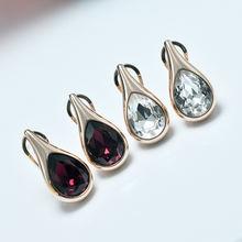 Модные Роскошные серьги с кристаллами женские золотым покрытием