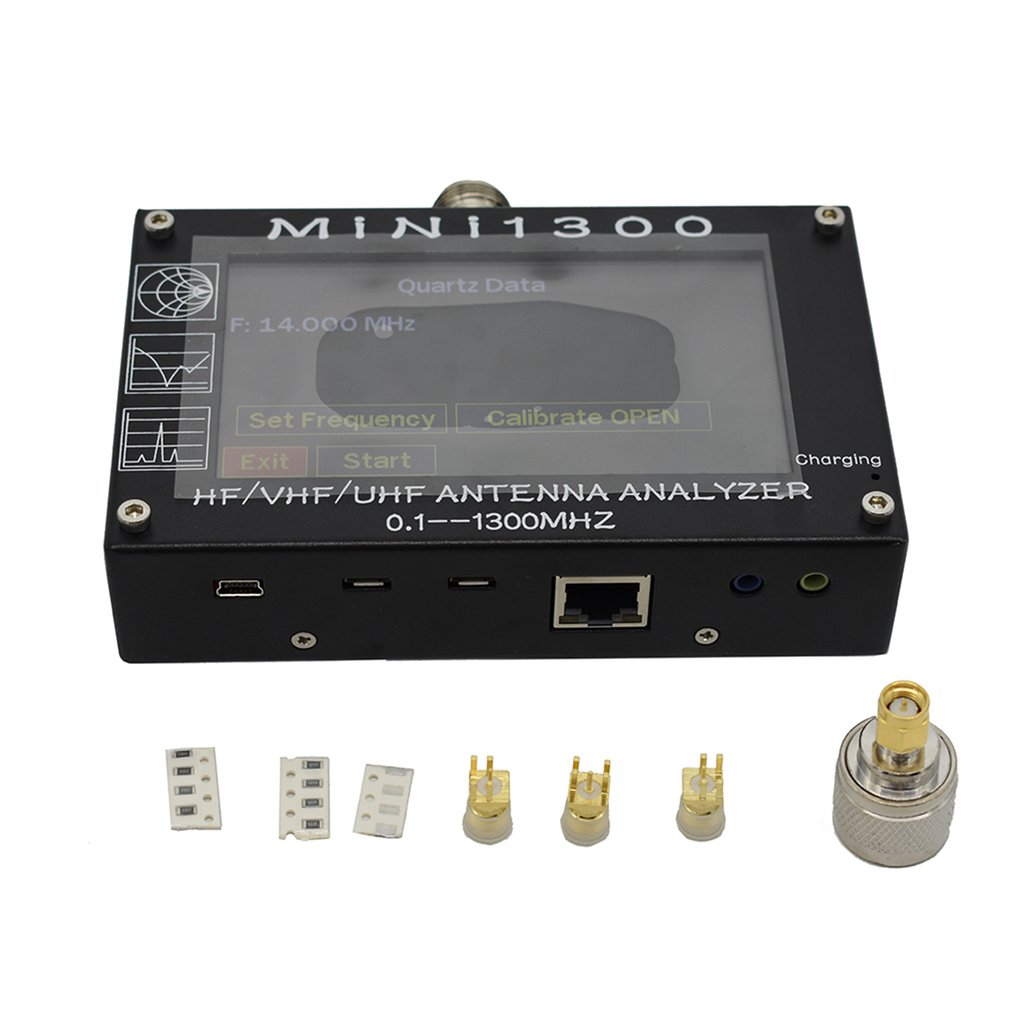 Mini1300 TFT LCD 0.1-1300MHz HF VHF UHF ANT SWR Antenna Analyzer Inner Battery Meter Upgrade From MINI600