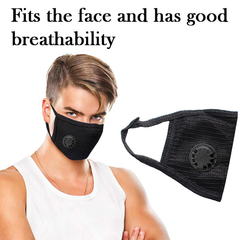 Anti Pollution PM2.5 Mouth Mask Dust Respirator Washable Reusable Masks Cotton Unisex Mouth Muffle Allergy Travel Cycling