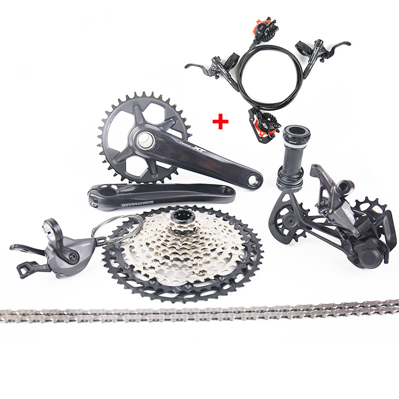 NEW DEORE <font><b>XT</b></font> <font><b>M8100</b></font> MTB Groupset Kit <font><b>12</b></font> Speed Shifter Lever Derailleur Cassette Chain Crankset <font><b>M8100</b></font> Hydraulic Disc Brake image