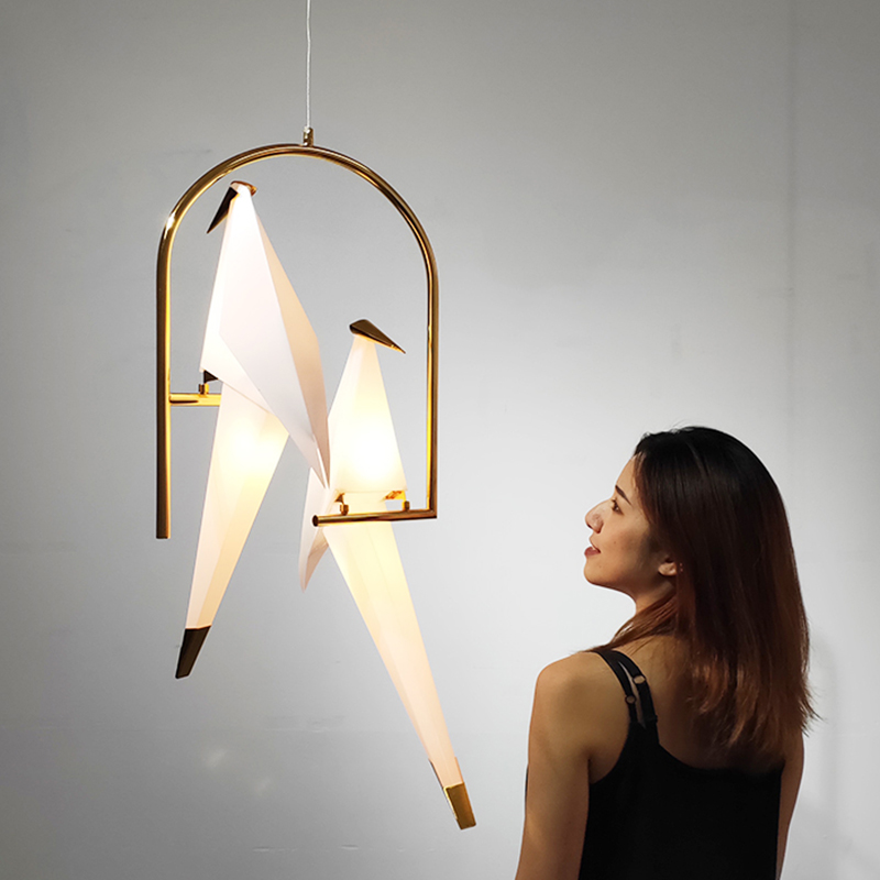 Nordic Acrylic Bird Pendant Lights Lighting Pendant Lamps Bedroom Living Room Dining Indoor Decor Hanging Lamp Kitchen Fixtures
