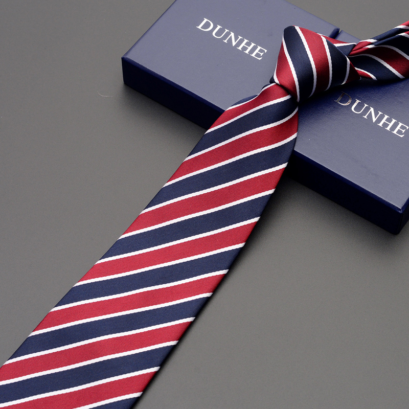High Quality 2019 New Fashion Ties Men Business 9cm Striped Silk Tie Work Wedding Ties for men Designers Brand with Gift Box