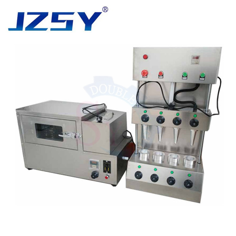 4 Moulds Umbrella Shape Pizza Cone Maker Machine Pizza Cone Forming Moulding Equipment/ Pizza Cone Machine With Rotary Oven