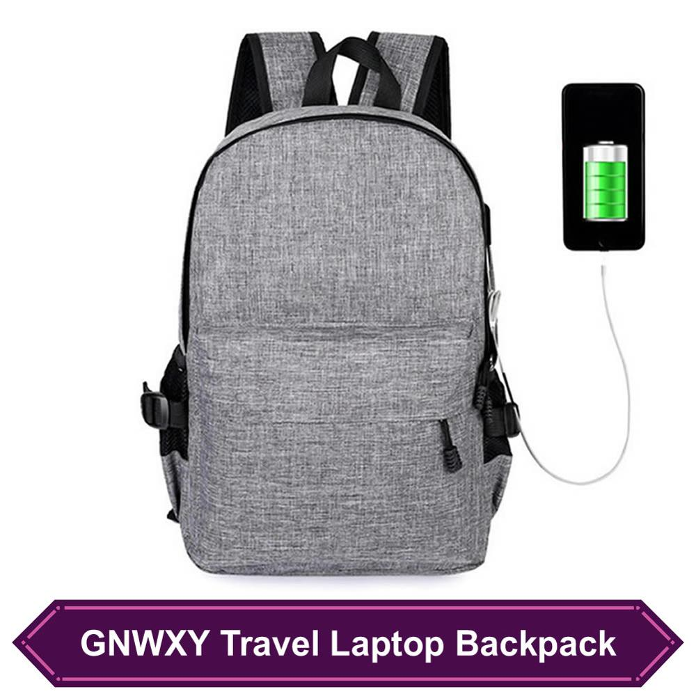 GNWXY USB External Charge 14 Inch Laptop Backpack Business Fashion Casual Oxford Waterproof Simple Anti-theft Travel Backpack