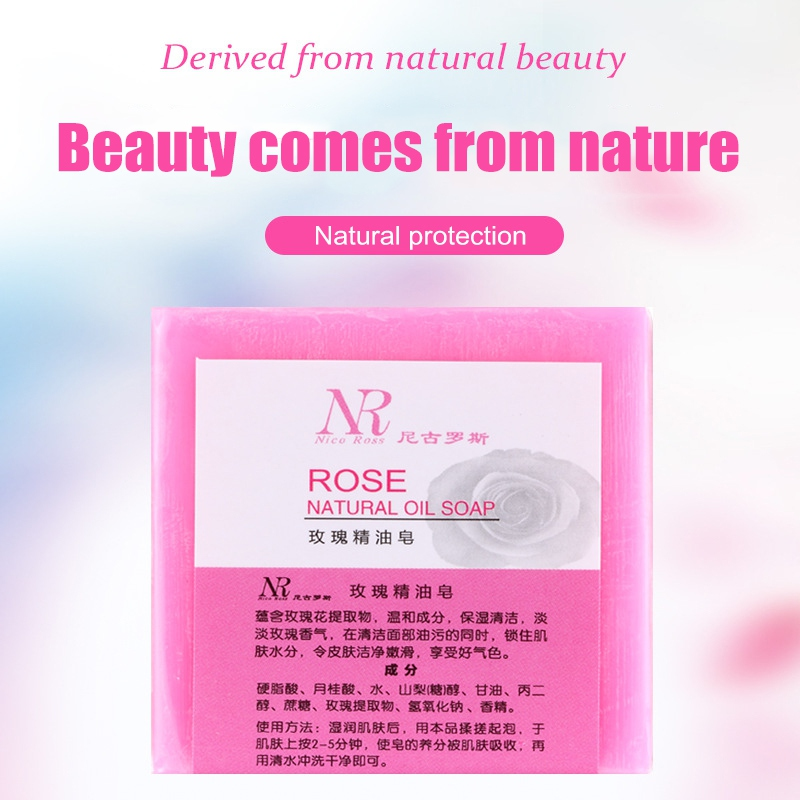 Rose Essential Oil Soap Rose Sea Salt Anti-mite Soap Moisturizing And Hydrating Handmade Soap