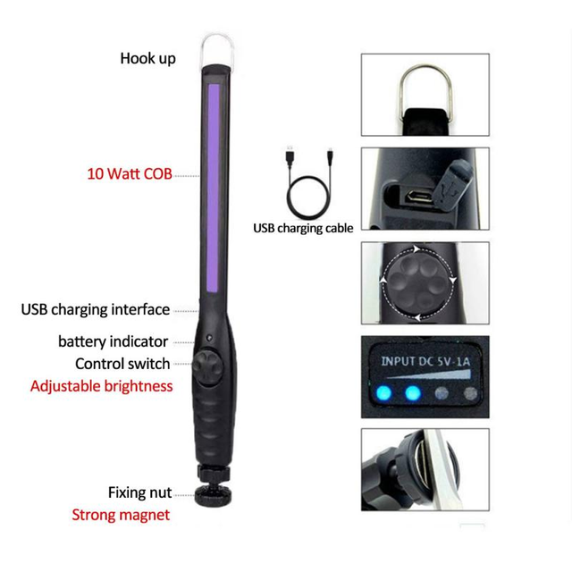 30/40 LED UV Germicidal Lamp Portable Ultraviolet Disinfection Lamp for home & office  6