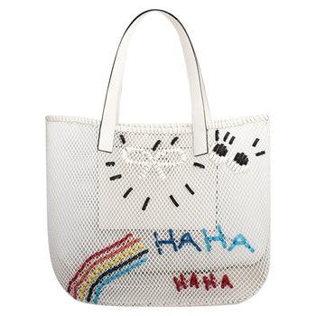 Fashion White Bucket Bags for Women High-quality Woven Shoulder Messenger Bags Female Classic Travel Beach Bag Channels Handbags фото
