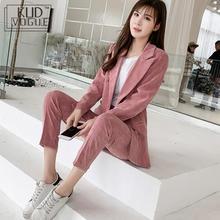 Womens Suits Set 2 Pieces Pink Pant Suit