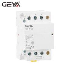цена на Free Shipping GEYA GYHC 220V 3P 63A 3NO AC Contactor Din Rail Household Contactors AC Automatic Switch