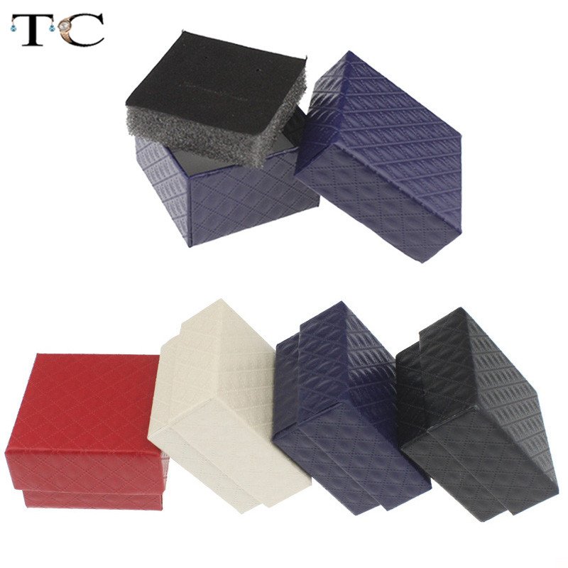 1 Pc Trinket Box Jewellry Store Gift Packaging Box Earring Display Holder Ring Organizer Paper Rings Small Accessories Boxes