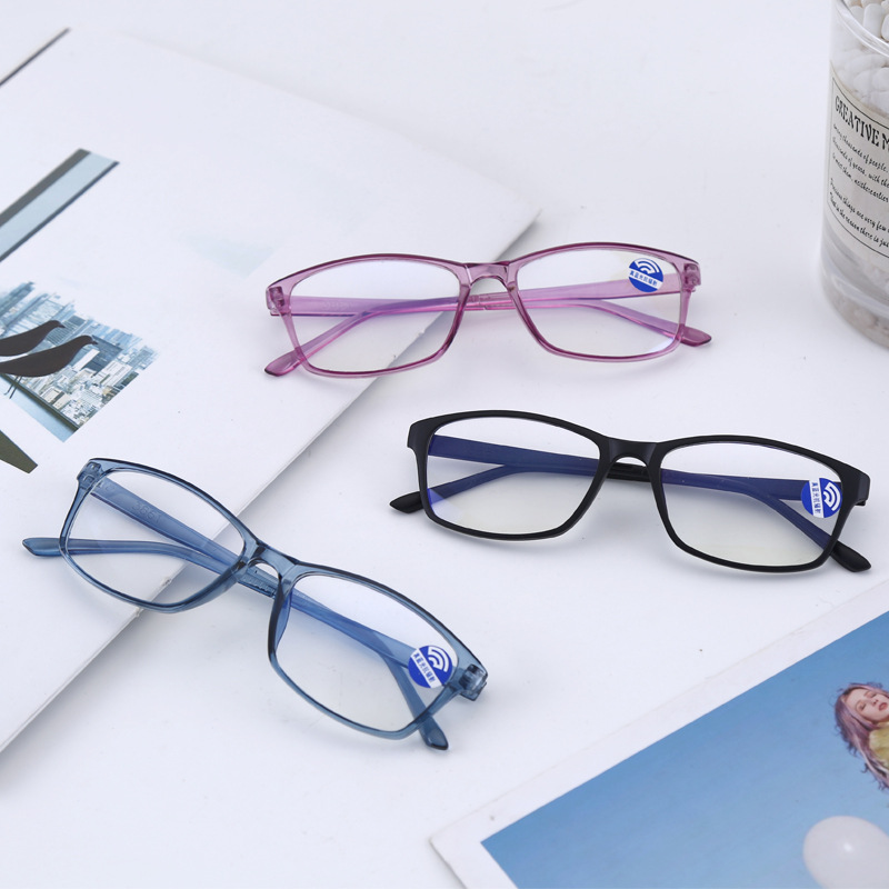 UVLAIK Anti Blue Computer Glasses Frame Women Men Eye Glasses Frames Protection Blue Light Blocking Transparent Glasses