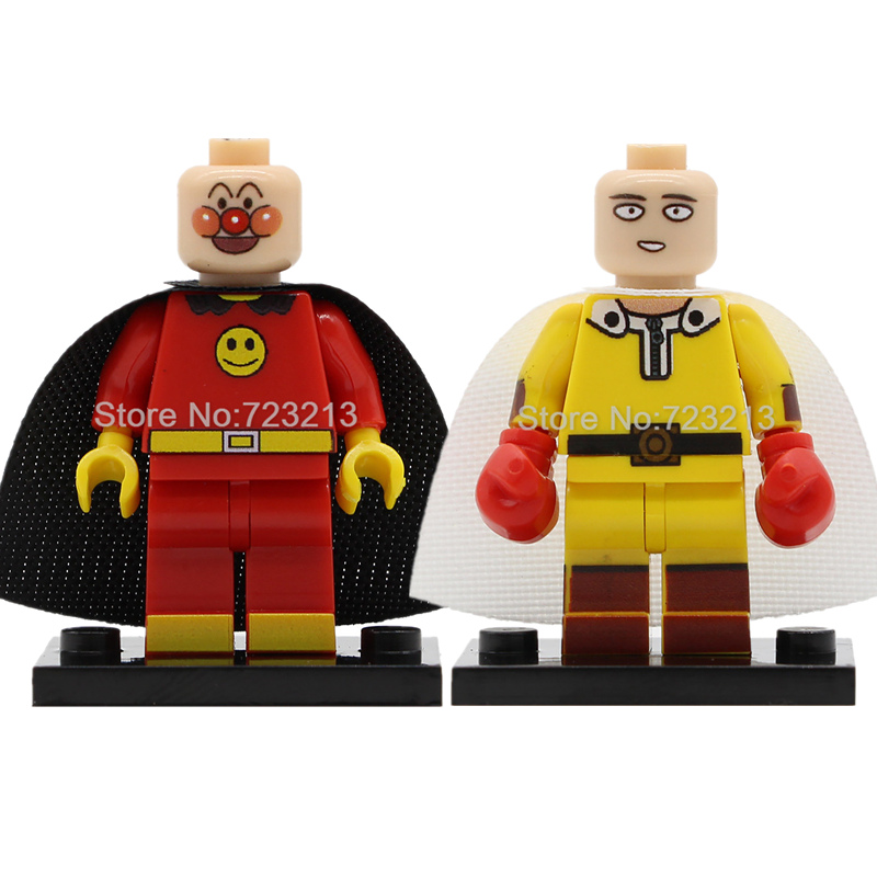 Single Sale Comic Series Anpanman ONE PUNCH-MAN Figure Set Saitama Building Blocks Kits Bricks Toys For Children Legoing