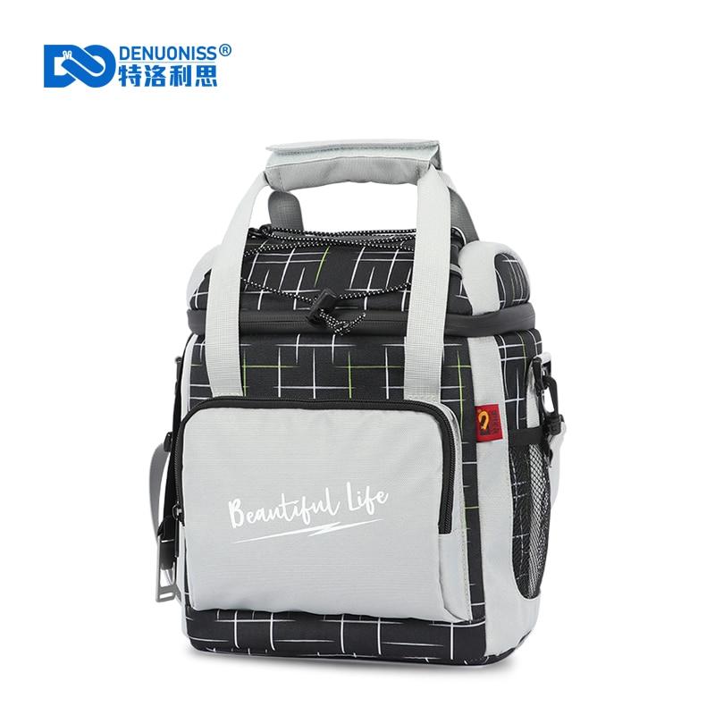 DENUONISS New Milk Cooler Bag 16 Cans Waterproof Portable Food Picnic Beer Bag Work Lunch for Adult Men,Women Insulation Bag