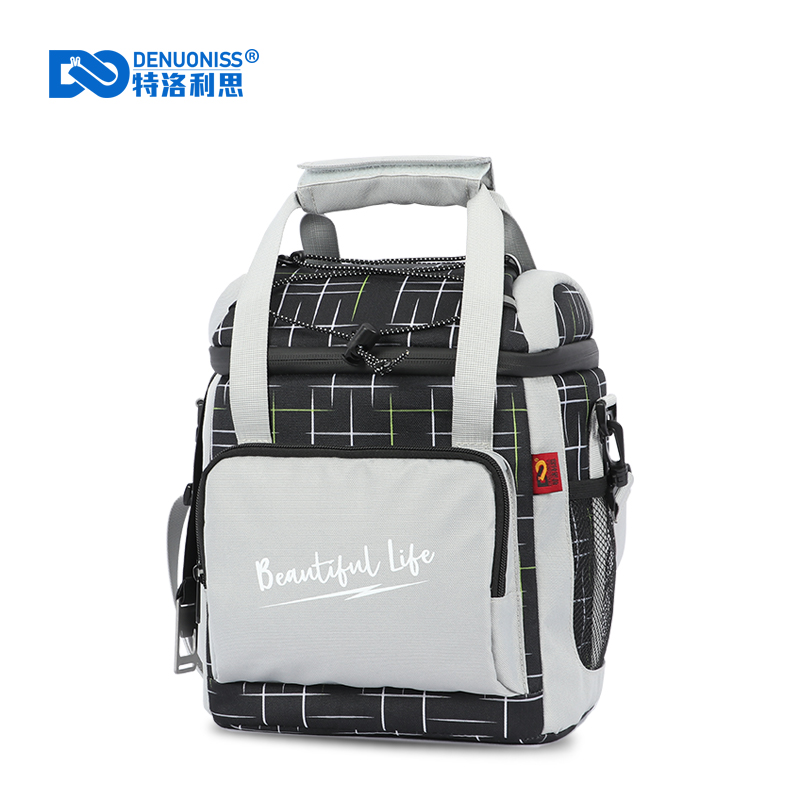 DENUONISS New Pattern Cooler Bag 16 Cans Waterproof Portable Picnic Beer Bag Work Lunch For Adult Men,Women Insulation Bag