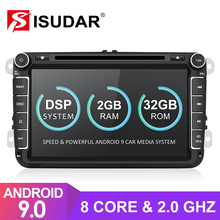 Isudar 2 Din Auto Radio Android 9 para VW/Golf/Tiguan/Skoda/Fabia/rápido/ asiento/Leon coche Multimedia GPS Octa Core ROM 32GB Cámara FM