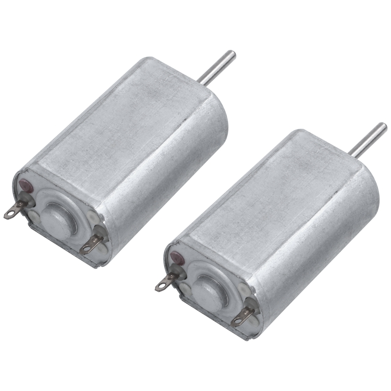 WSFS Hot 2Pcs DC 9V 30800RPM 2mm Dia Shaft High Speed Model Airplane DC Motor image