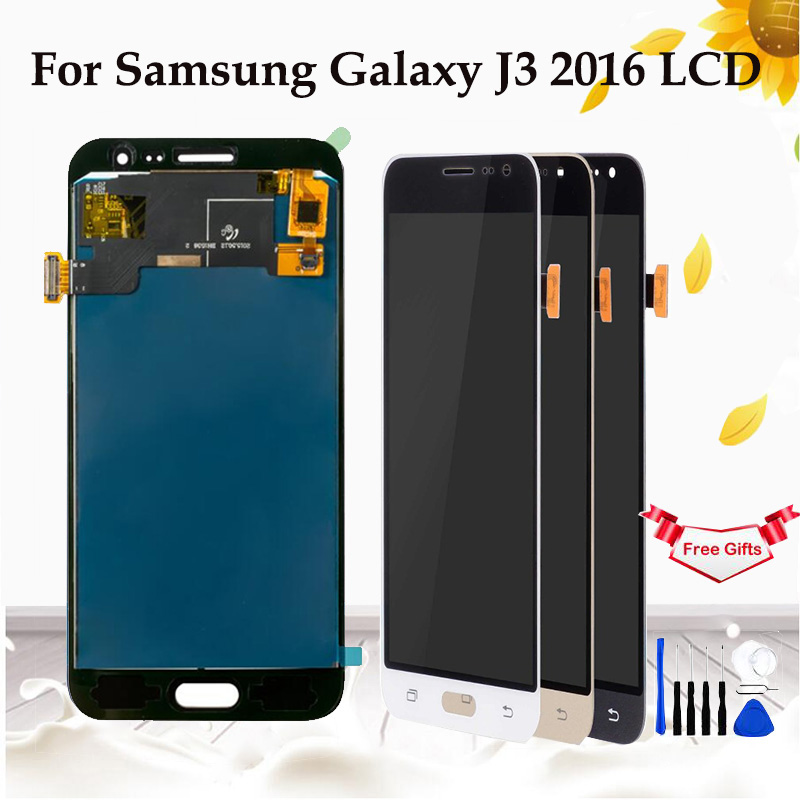 Für Samsung Galaxy J3 2016 <font><b>J320</b></font> <font><b>LCD</b></font> Display Touchscreen Digitizer Montage für GALAXY J3 2016 <font><b>J320</b></font> J320FN <font><b>LCD</b></font> Display ersetzen image
