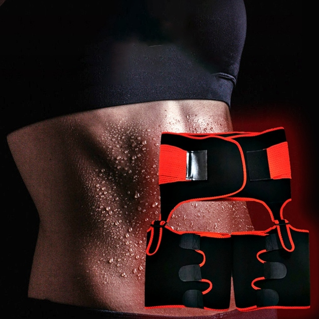 Hot 2 in 1 Waist Trainer and Thigh Trimmer Double Compression Belt Leg Support Sweat Sauna Effect 3