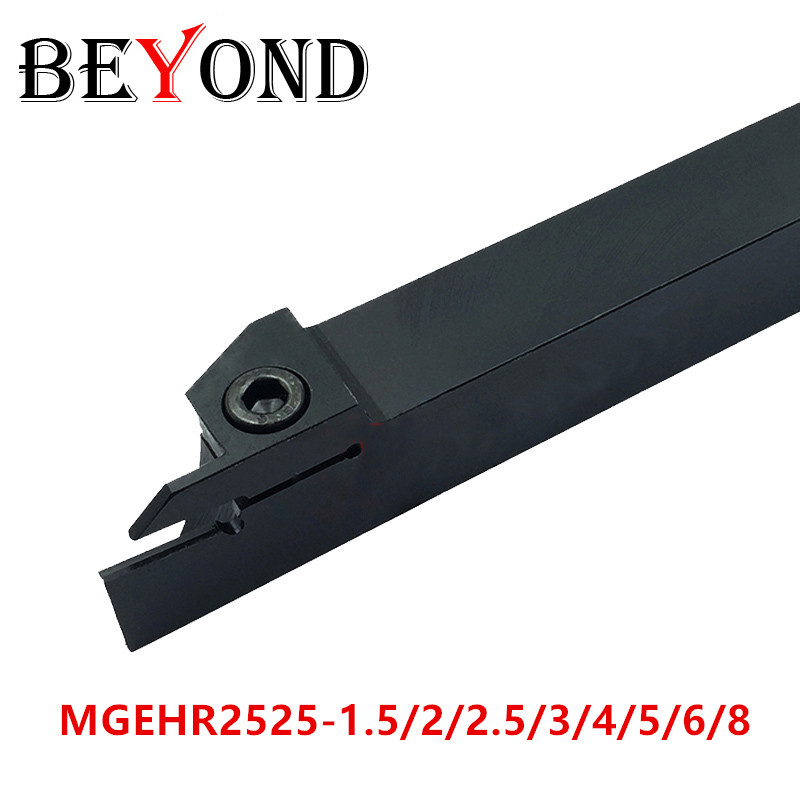 BEYOND MGEHR MGEHR2525 MGEHR2525-3 Grooving Cnc Turning Lathe Tool Holder For Carbide Inserts MGMN200 MGEHR2525-2 MGEHR2525 4