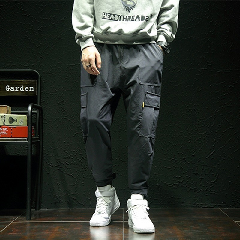 50-125 KG Plus Size Mens Pants Moda Hombre 2020 Loose Men Trousers Punk Style Armygreen Black Overalls Men Casual Sweatpants 5XL